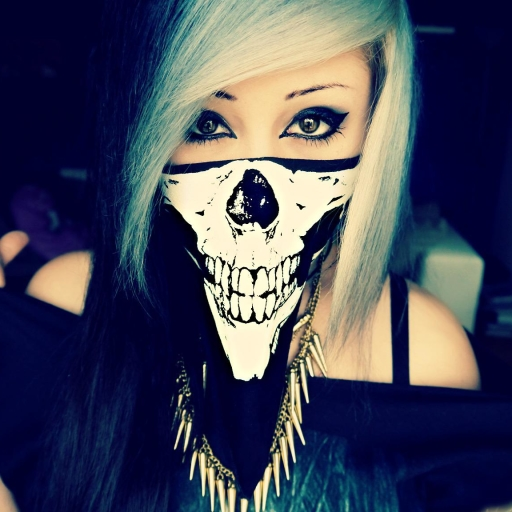 Emo Girl With Bandana Wallpaper Emo Girl Skull Forum Avatar Profile Photo Id 52954