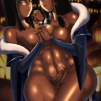 "What if one of sexy twins from ""Legend of Korra"" had a dick?"