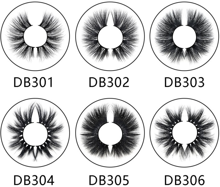 different models of 3D mink eyelashes