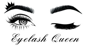 a pair of eyes as a lash logo