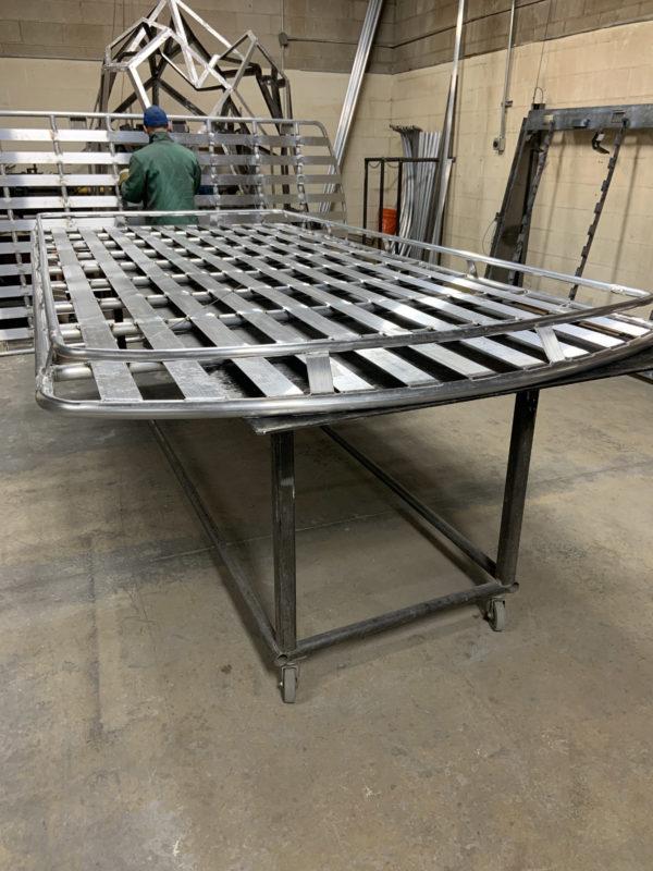 Avatar Metal Works roof rack being built