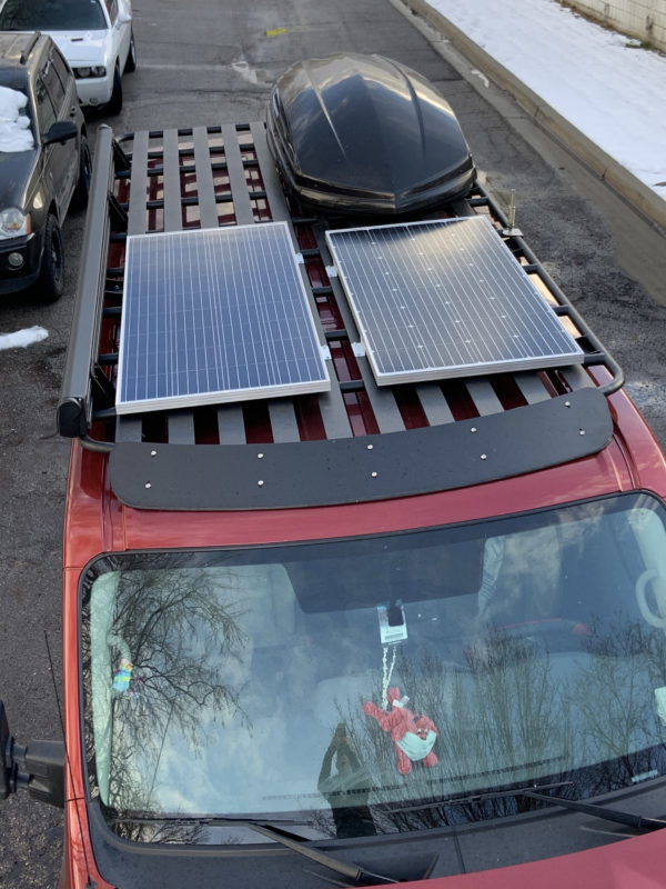 Nissan NV3500 Avatar roof rack with no upper rail