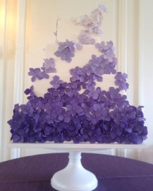 """purple Square Wedding Cake Purple"