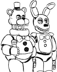 fnaf 3 springtrap coloring pages – Kaban | 252x200