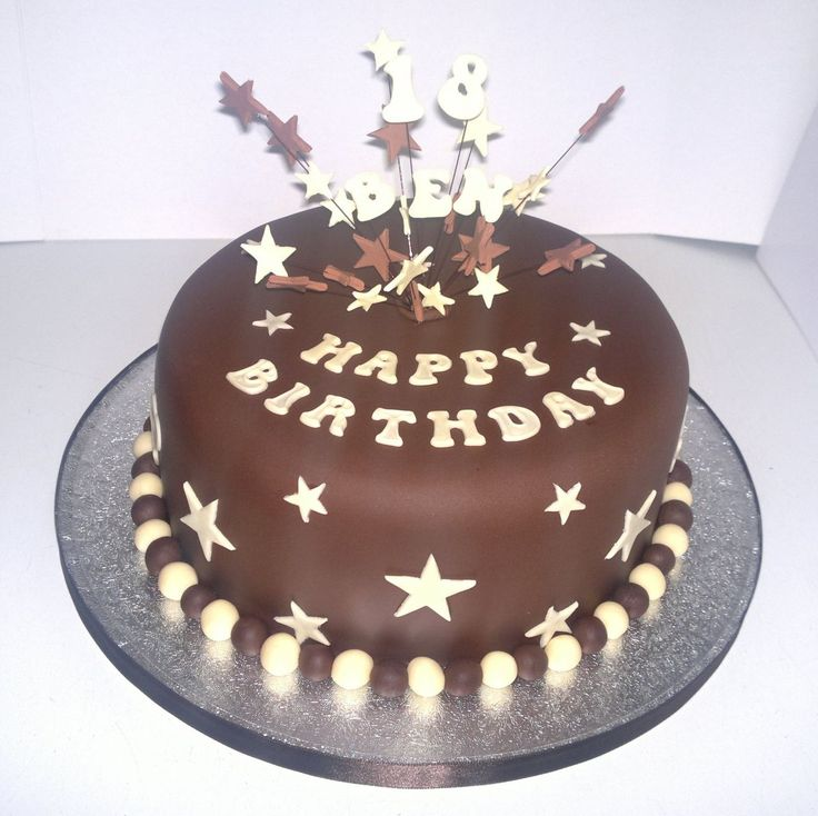 Men Birthday Cake Ideas With Star And Number Cake Topper Boy Card