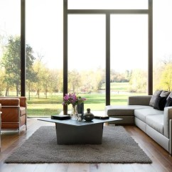 Living Room Big Window Fancy Modern Family With Gallery And Picture Including