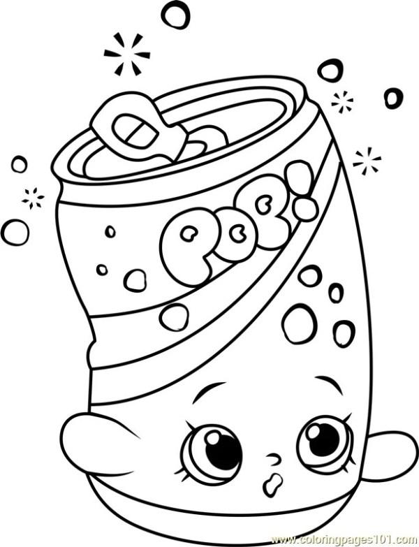 Kleurplaat Cute Food Kidkleurplaat Nl
