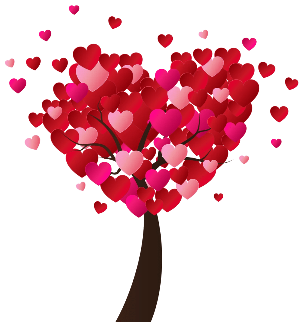 medium resolution of valentine s day heart tree png clip art image gallery yopriceville high quality