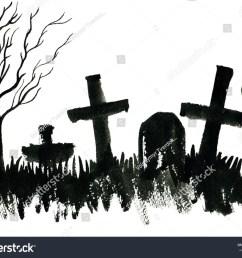 cemetery clipart monoart graveyard clipart cemetery or gr [ 1200 x 970 Pixel ]