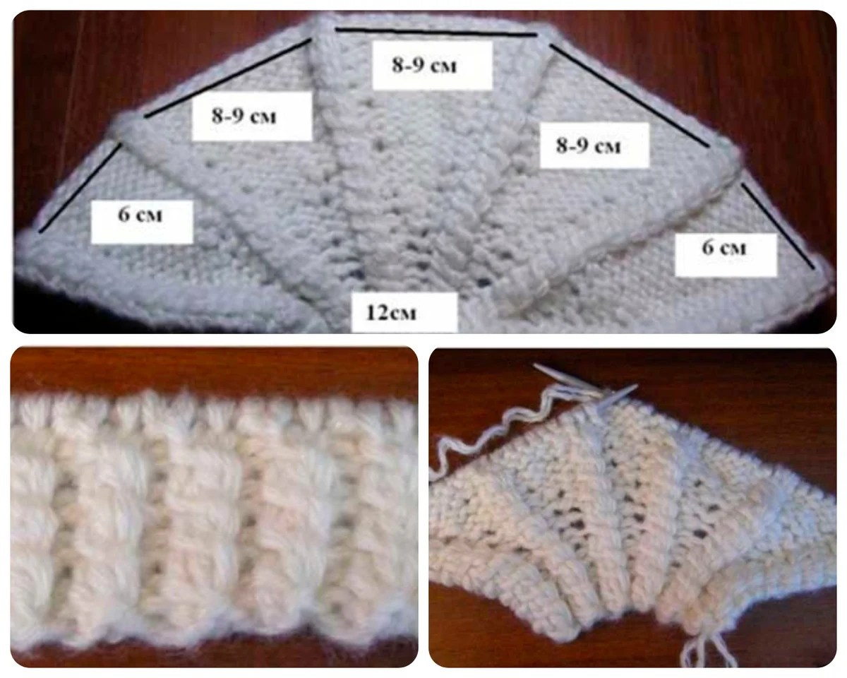 Knit chap-chalma needles. With step-by-step MK + photo