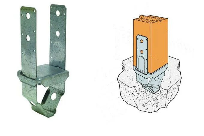 5. Support base for fastening the column to the foundation