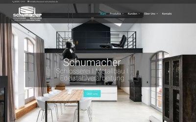 responsives Webdesign für die Schlosserei Schumacher in Hauenstein (Rheinland-Pfalz)