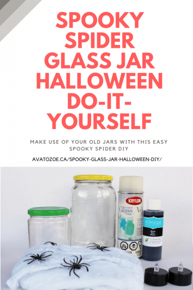 Easy & Fun Spooky Glass Jar Halloween DIY