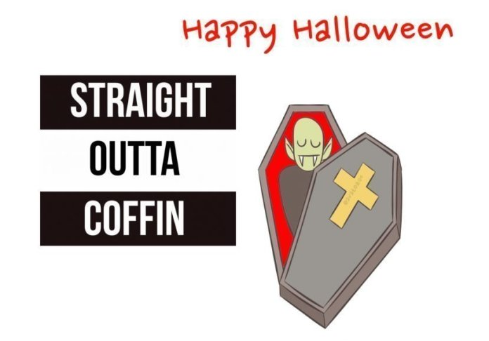 Straight Outta Coffin Halloween Card