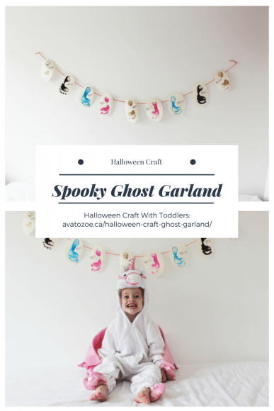 Spooky Ghost Garland: A Halloween Craft with Toddlers!