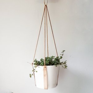 Leather Hanging Plant Holder