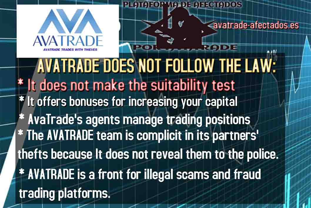 AVATRADE DOES NOT FOLLOW THE LAW: