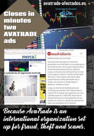 The domain avatrade-afectados.es has successfully closed in a few minutes an AVATRADE advertisement.