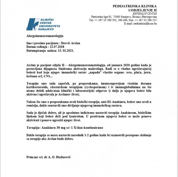 Nalaz Arslana Dervića