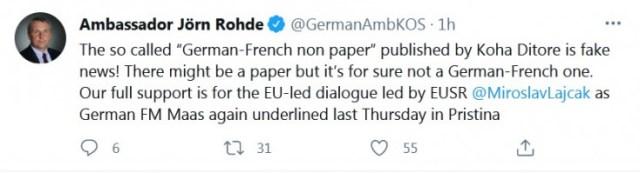 Status ambasadora Njemačke