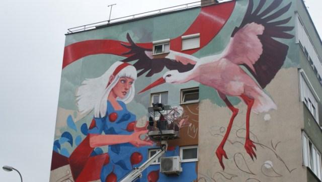 Oslikan najveći mural u gradu na Savi