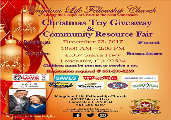 Christmas Toy Giveaway Community Resource Fair A V