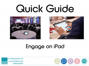 Engage iPad Quick Guide