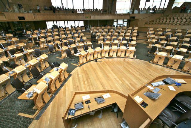 Installation at the Scottish Parliament main chamber