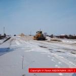 Развязка Н-31 с ЖД в Бутенках. Насыпь в сторону Решетиловки