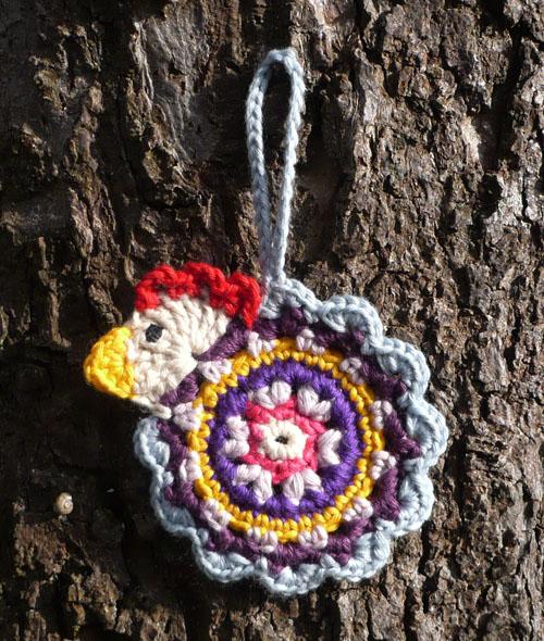 poule décoration crochet coton