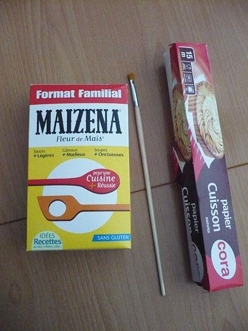 durcir ouvrage maizena