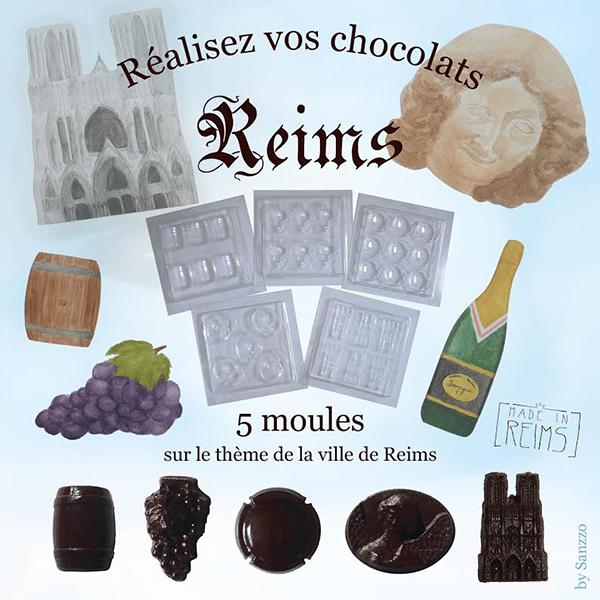 Coffret reims moule chocolat taille 600