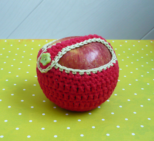 étui fruit crochet