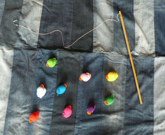 pêche aux canard diy crochet canne