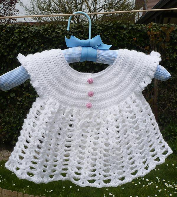 gilet papillon blanc crochet