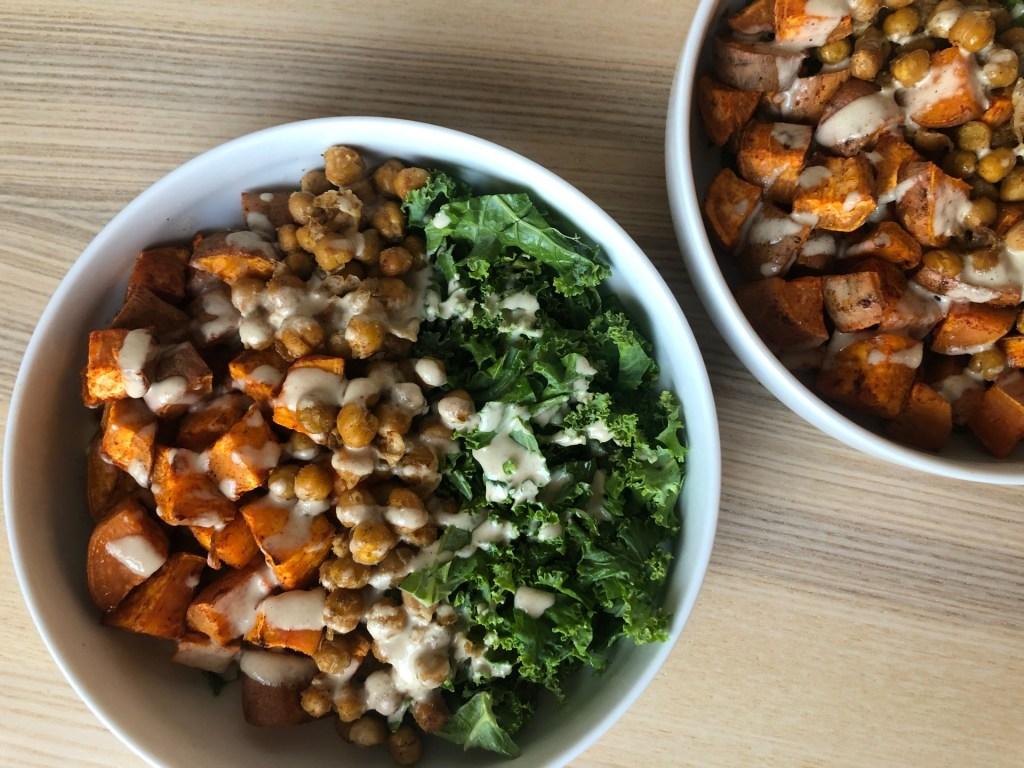 Chickpea Kale Sweat Potato Salad Bowl
