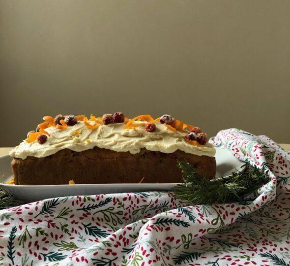 Cranberry and orange cake // Gâteau à l'orange et aux canneberges