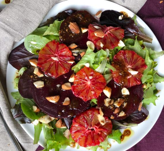 Blood orange and beetroot salad // Salade aux oranges sanguines et bettraves