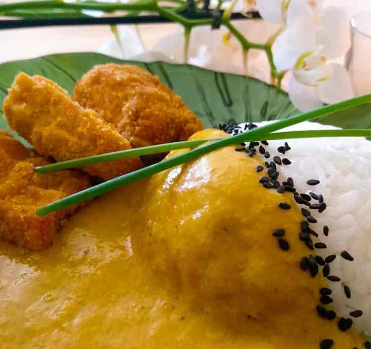 vegan katsu tofu curry