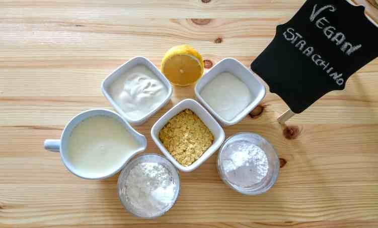 ingredients for vegan stracchino cheese