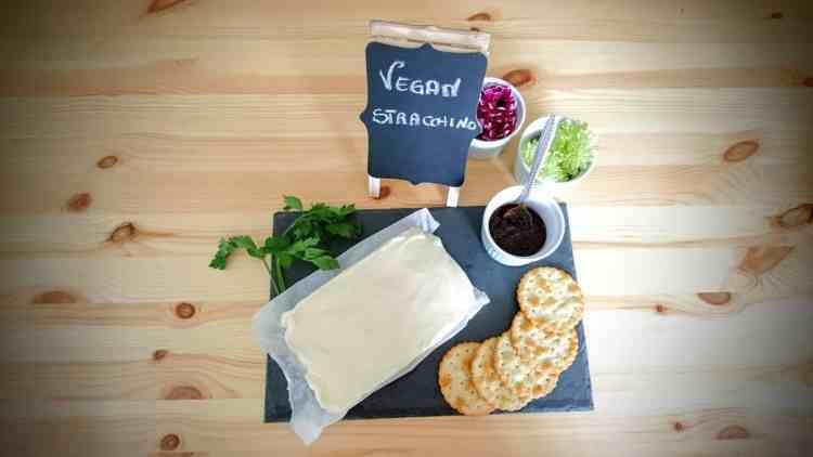 top down vegan stracchino cheese