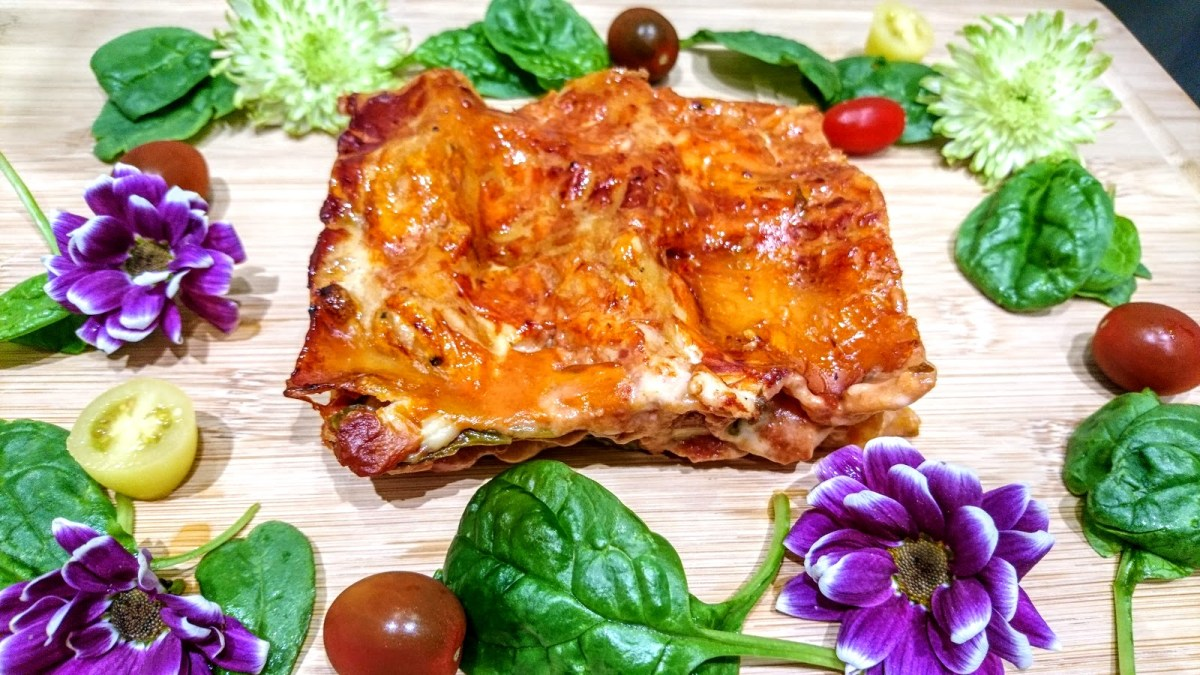 Butternut Squash, Spinach and NoGoat Cheese Lasagna (Vegan)