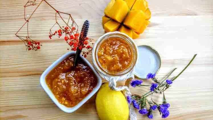spicy mango chutney top down