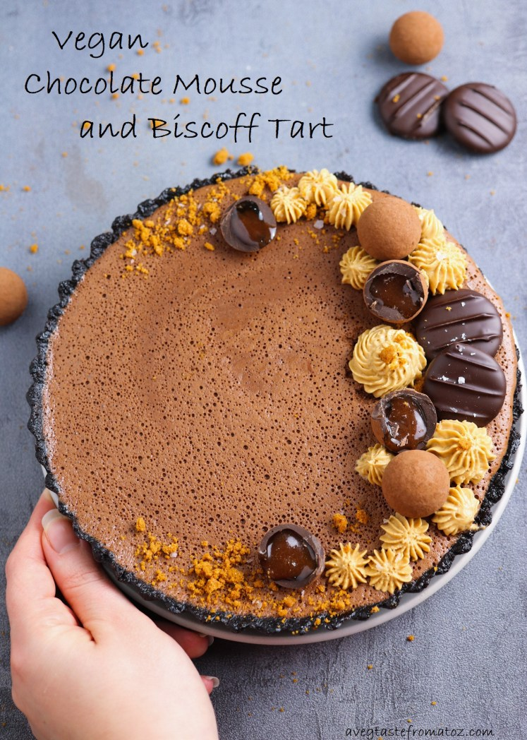 Chocolate Mousse and Biscoff image for Pinterest