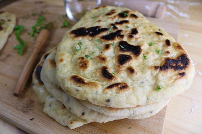 Homemade Plain Naans