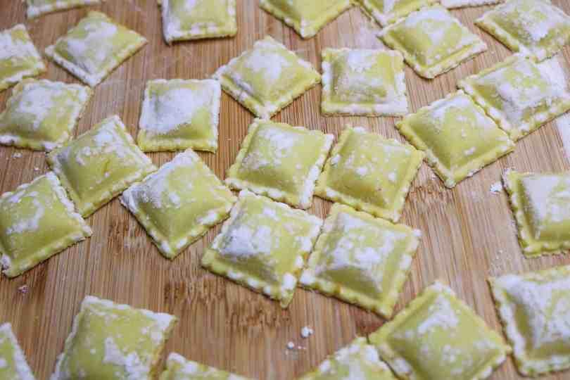 ravioli zucca vegan pronti per la cottura