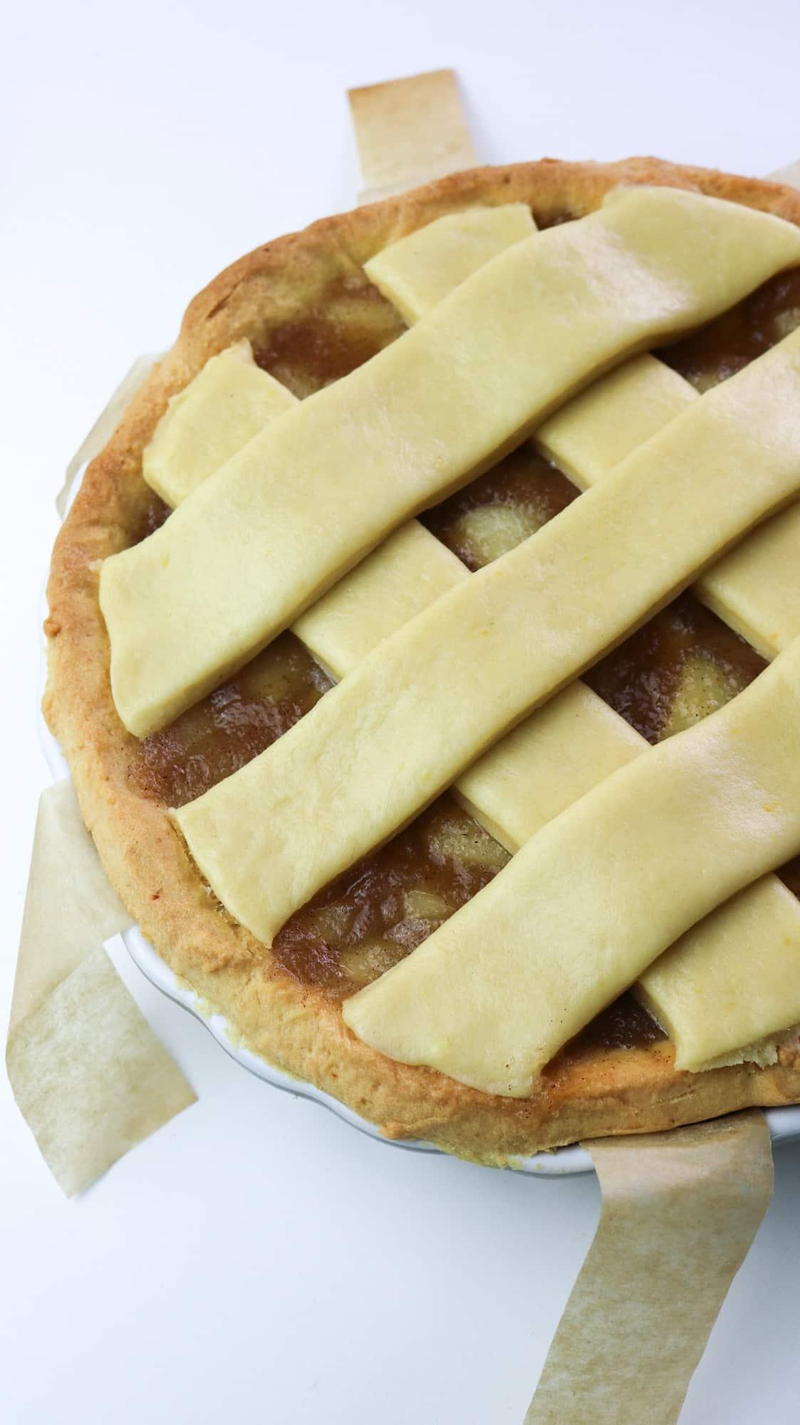 pie with raw lattice