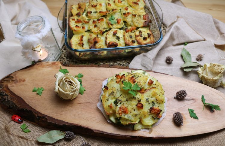 courgette and potato bake