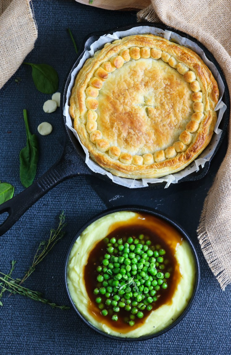 Cheese, Leek and Spinach Pie