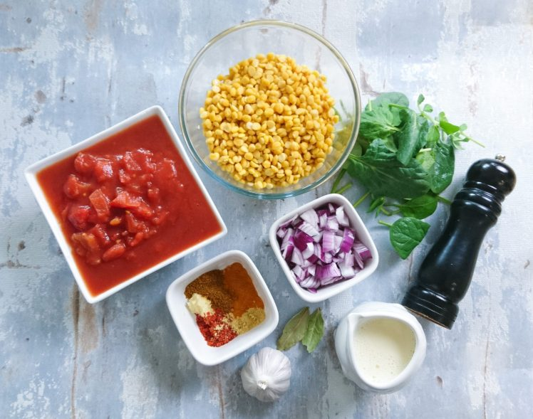 ingredienti per preparare il Dahl Makhani